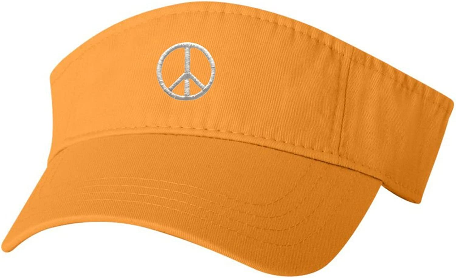 Go All Out Adult Peace Sign Embroidered Visor Dad Hat