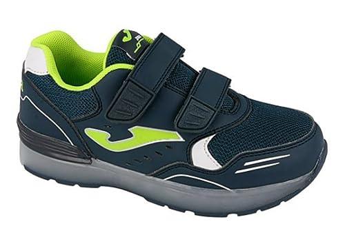 Joma J. Kid Light 603 Marino-Fluor - Zapatillas Niños: Amazon.es: Zapatos y complementos