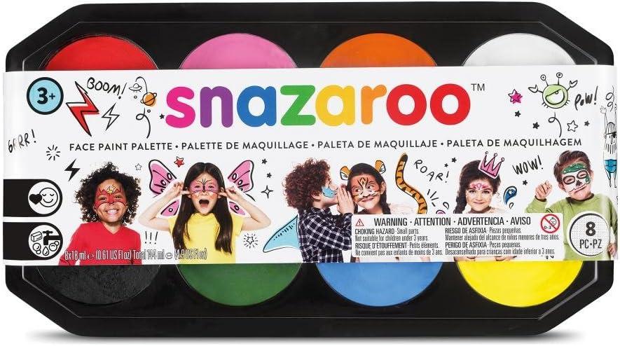 Snazaroo- Paleta de pintura facial, Multicolor (Colart 80818): Amazon.es: Juguetes y juegos