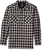 Pendleton Men's Size Big Long Sleeve Board Shirt, Black/White Shadow Check, XXL-Tall