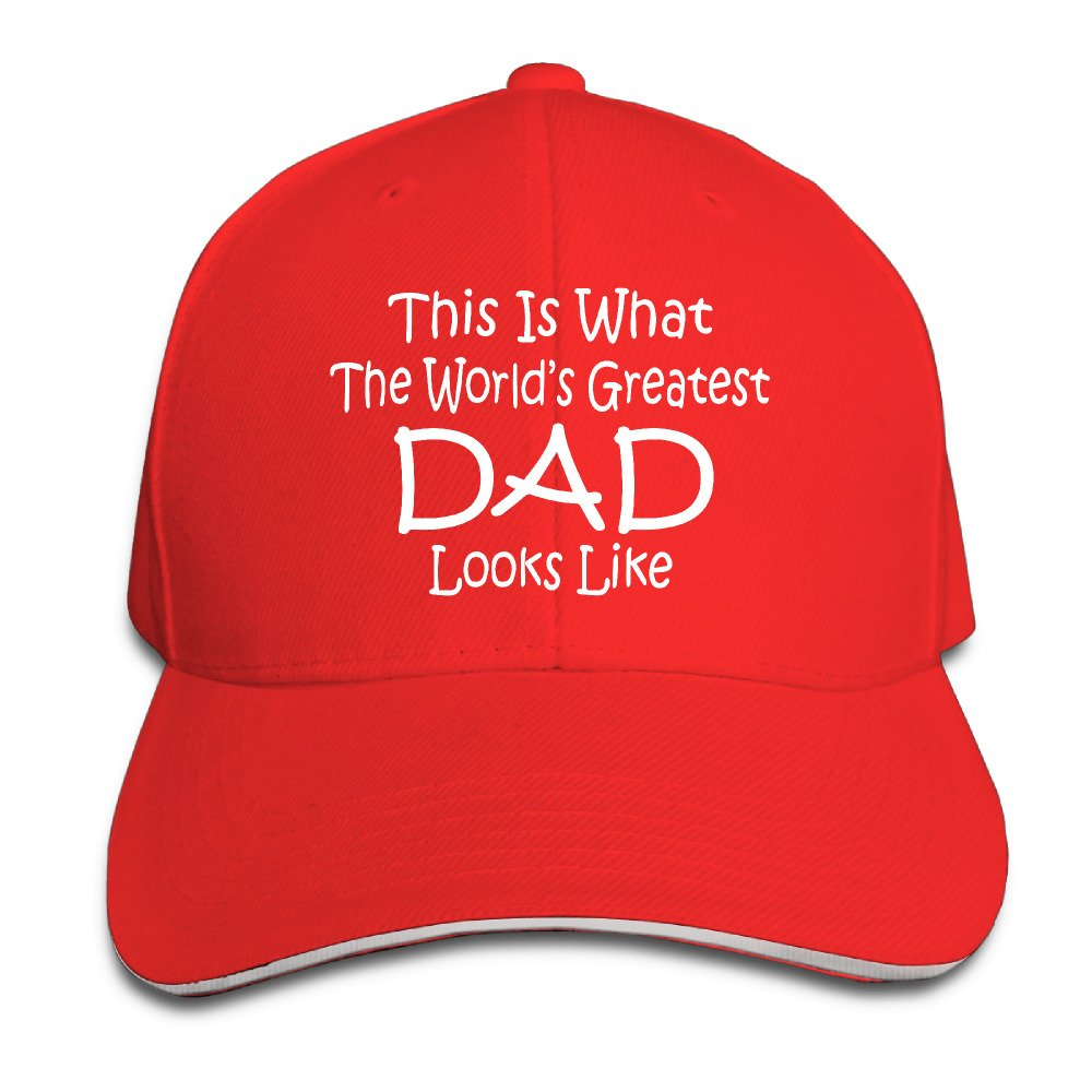 Worlds Greatest DAD Fathers Day Gift Best Sunscreen Sandwich Peaked Cap, Baseball Caps