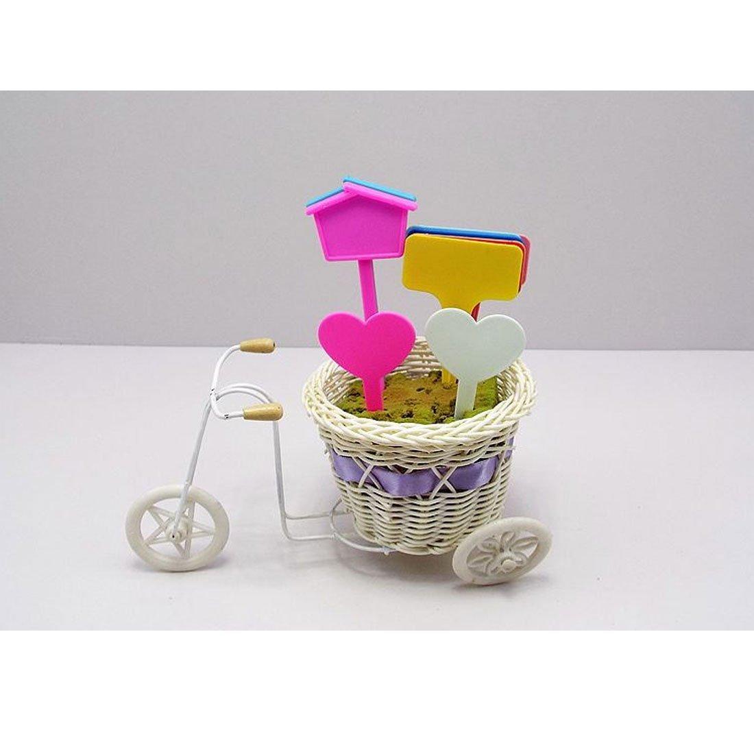 Amazon.com: DealMux Plástico Doméstico Jardim Coração planta em forma Tag Semente Etiqueta marcador da vara rosa 20pcs: Kitchen & Dining