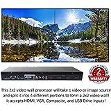 2x2 HDMI Video Wall Processor (2018 Version) HD TV 1080P Matrix Controller Splicer Splitter Display 2x2 2x1 1x2