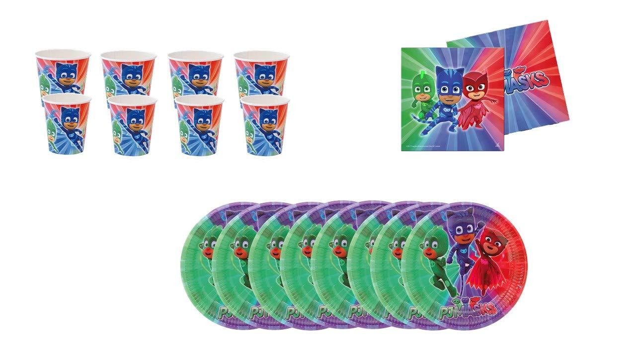 PJ Masks ALMACENESADAN 0491, Pack Desechables Fiestas y ...