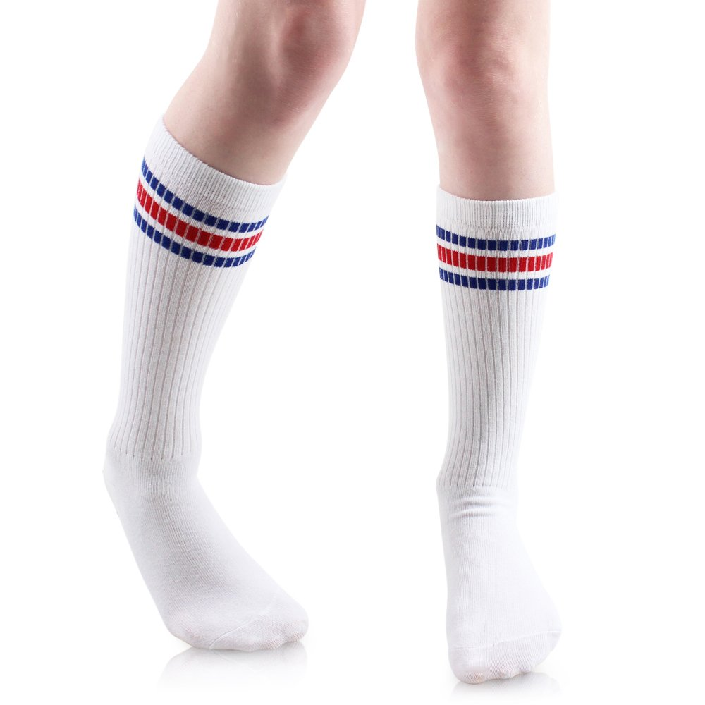 Baby, Toddler & Kids Knee High Tube Socks For Boys & Girls With Grips