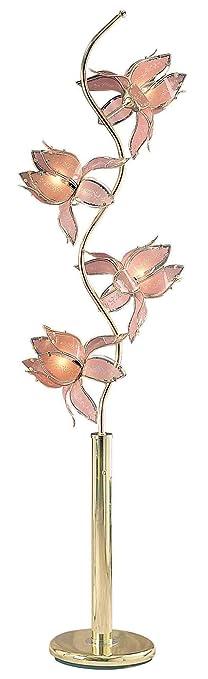 Ore International K-9334W 73-Inch Flower Floor Lamp, White ...