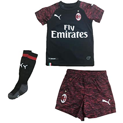 d45a86ebf889 Amazon.com : PUMA 2018-2019 AC Milan Third Mini Kit : Sports & Outdoors