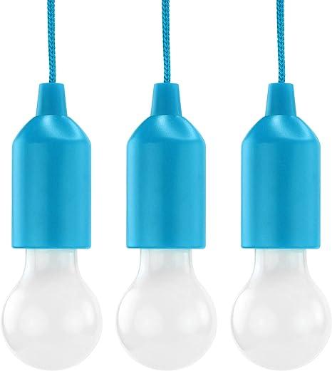 Hycell Pull Light 3er Set Mit Zugschalter Inkl Aaa Batterien Tragbare Led Lampe Warmweiß Mobile Leuchte Ideal Für Garten Schuppen Zelt Camping