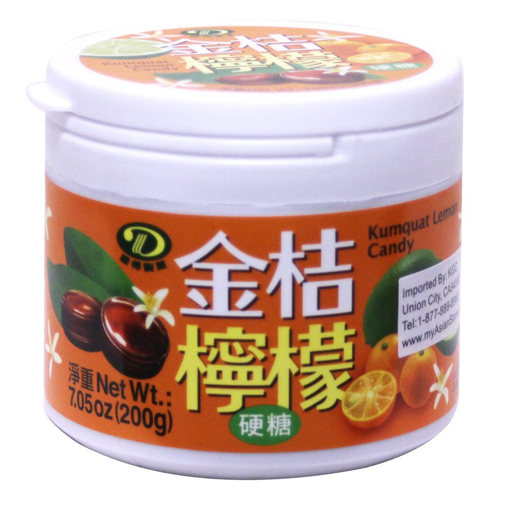 金桔檸檬喉糖 Kumquat Lemon Hard Candy 7.05 oz/200g