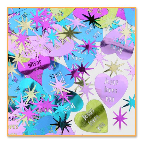 Jesus Loves You Confetti (Pack of 96) by Beistle