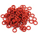 Pinzhi® 120Pcs Rubber O-Ring Switch Dampeners Dampener keycap Key Switch Dark Red For Cherry MX keyboard Dampers (colour1)