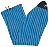 Stretch Surfboard Sock Cover - Fish Nose [CHOOSE COLOR] (Blue Horizon Stripe, 6'0 Fish)