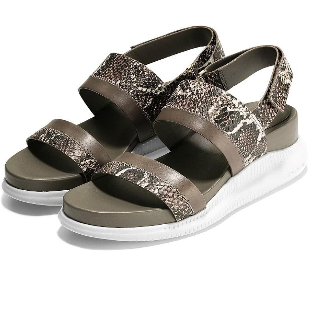 Cole Haan Women's 2.Zerogrand Slide Sport Sandal, Black Leather B079QB2ZW9 8.5 B(M) US Roccia Snake Print-morel-vapor Gray