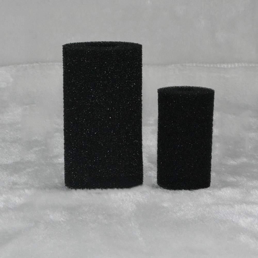 Black Aquarium Cylinder Prefilter SevenMye 8 PCS Aquarium Biochemical Filter Sponge Foam Cartridge Fish Tank Pre-Filter SpongeReplacement Filters Sponge