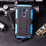 LG G2 Case, Cocomii Robot Armor NEW [Heavy Duty] Premium Belt Clip Holster Kickstand Shockproof Hard Bumper Shell [Military Defender] Full Body Dual Layer Rugged Cover (Blue)