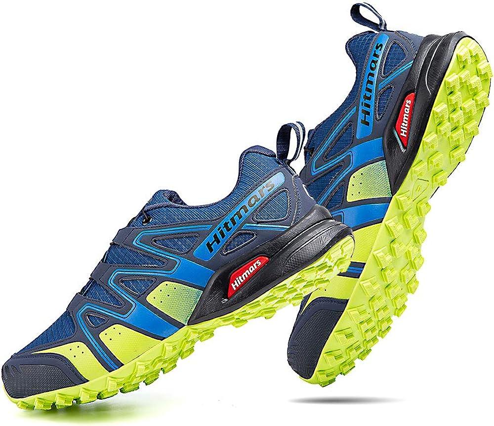 Zapatillas Trail Running Hombre Mujer Impermeables Zapatos Trekking Ligero Botas Senderismo Bajos Multideporte Negro Azul Gris Amarillo Talla 36-48