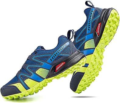 Zapatillas Trail Running Hombre Mujer Impermeables Zapatos Trekking Ligero Botas Senderismo Bajos Multideporte 1 A Azul Talla EU