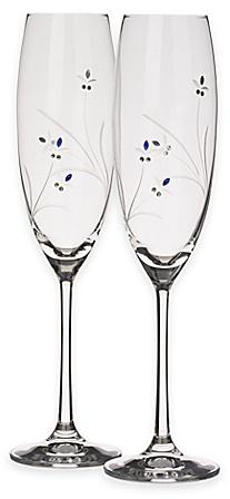 Oleg Cassini Something Blue Toasting Flutes (Set of 2) - www.BedBathandBeyond.com