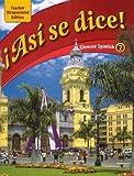 Asi se dice: Glencoe Spanish 2, Teacher Wraparound Edition