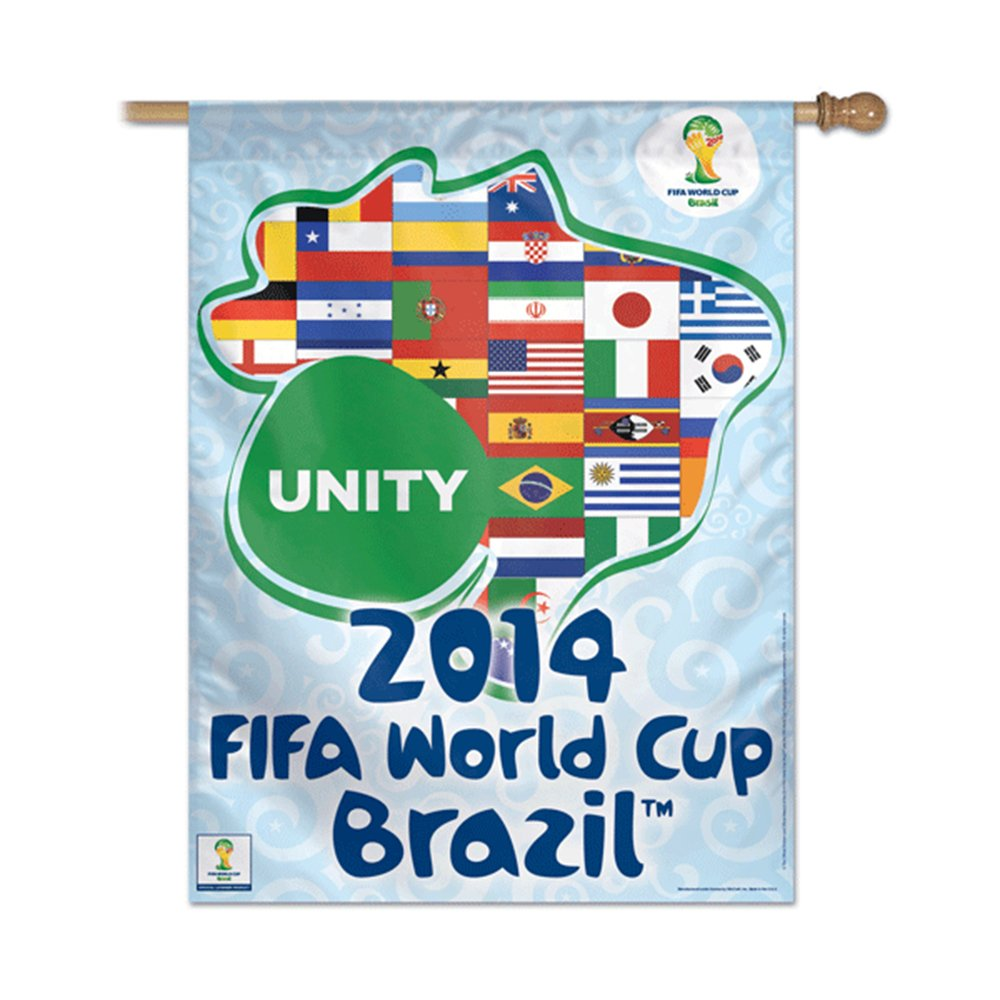 World Cup Soccer家2014年FIFAワールドカップブラジル国旗Unity垂直バナー28 x 40 B00IAU918Y