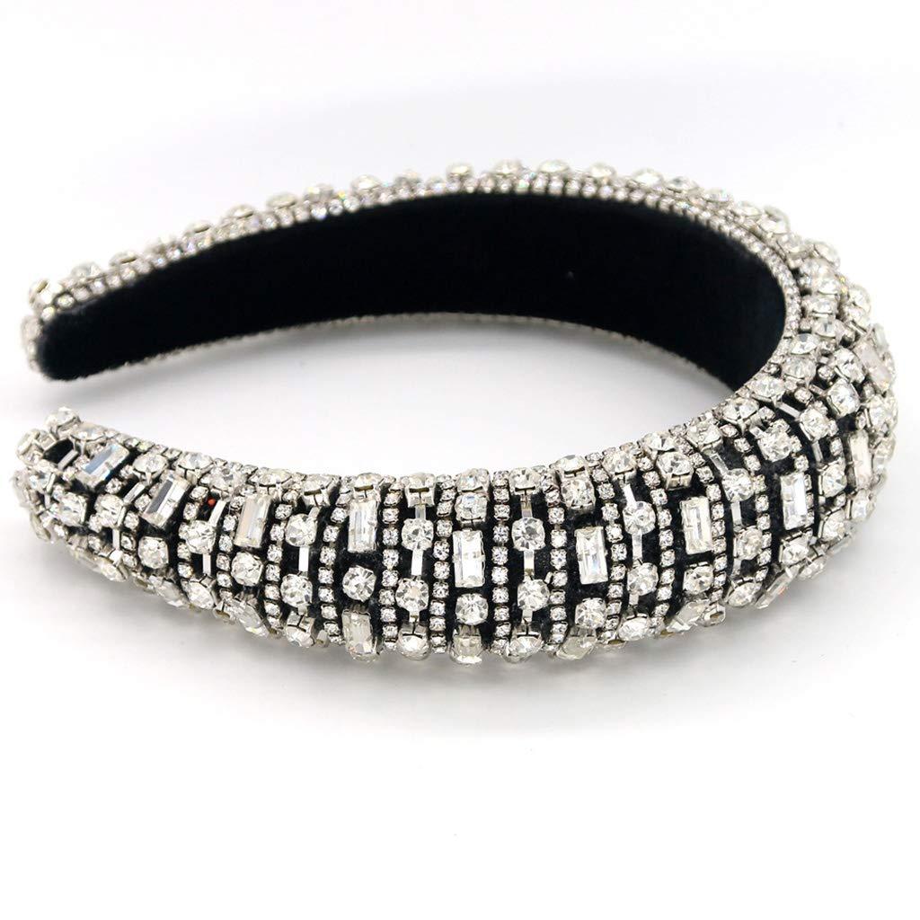 Diadema para el Pelo de Mujer barroca de Cristal de Metal Yanhonin