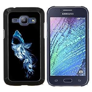 For Samsung Galaxy J1 J100 Case , El humo del tiburón blanco- Diseño Patrón Teléfono Caso Cubierta Case Bumper Duro Protección Case Cover Funda