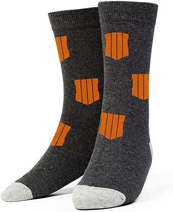 Crew Socks Green//Black Green Star - Size 10-13 Socks Call Of Duty