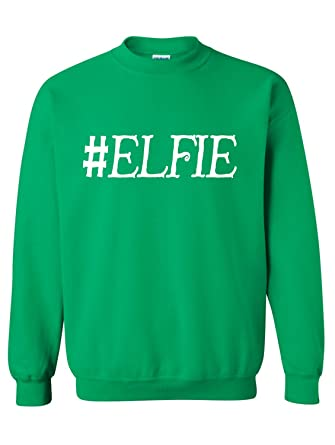Manateez Mens Ugly Christmas Sweater Lets Get Elfed Up Crew Neck