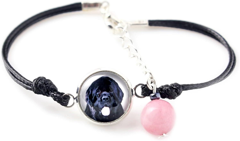 Bracelet for People who Love Dogs Photo Jewelry Handmade Art Dog Ltd Newfoundland