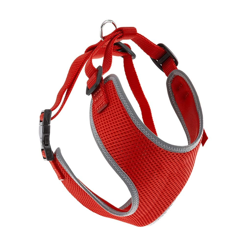 RED XS RED XS Dog Vest Harness, Reflective Chest Strap Walking The Dog Leash golden Hair Teddy Small and Medium Pet Chain Safety Buffer Belt Cat Vest (color   RED, Size   XS)