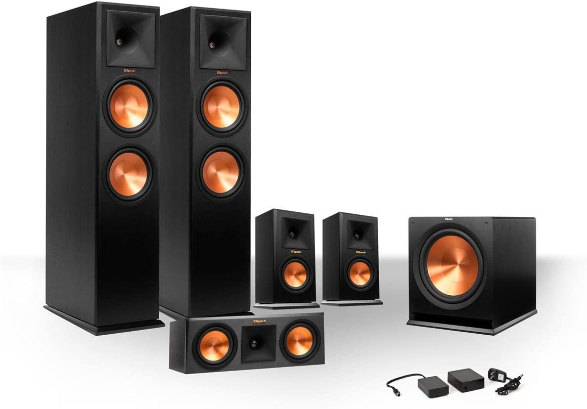 Klipsch 5.1 RP-250 Reference Premiere Speaker Package with R-110SW Subwoofer and a FREE Wireless Kit Ebony