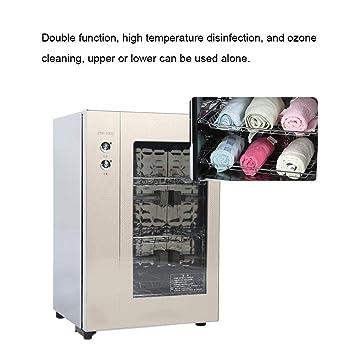 Towel W/ärmer,60L Handtuchw/ärmer 2-in-1-Handtuchsterilisator Doppelfunktion Towel Warmer Cabinet Hochtemperatur Handtuch Sterilisator Geeignet f/ür Die Familie Eines Friseursalons