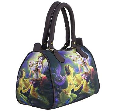 4fd72430e2d4 Bangprice Canvas digital printed multipurpose Modern Radha Krishna designer  stylish duffle tote and handbag for Girls Women  Amazon.in  Shoes   Handbags