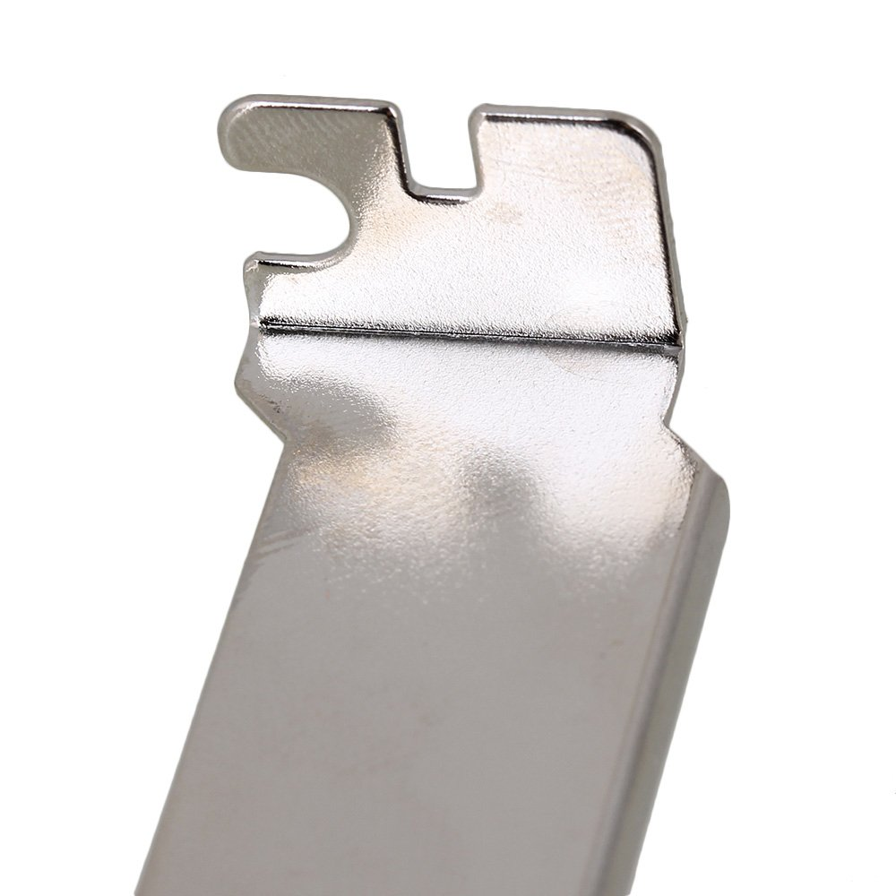 RDEXP 12x2cm Silver Stainless Steel Computer Case Rear Slot PCI Bracket Blank Filler Cover Plate Folding Section with Screw Set of 100