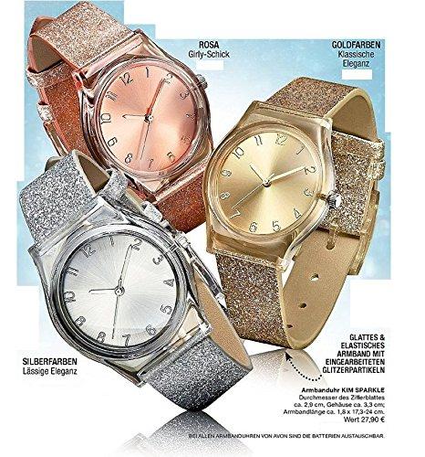 Avon regalo Ideas Reloj de pulsera Kim Sparkle Girly Moda Rosa embalaje original *, * *: Amazon.es: Deportes y aire libre