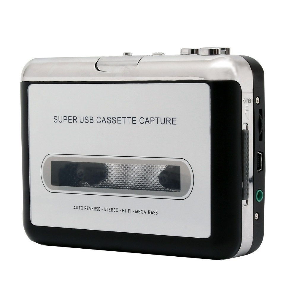 ETvalley Portable Cassette Player Cassette Tape Converter MP3 Player Tape Tape-to-Digital Converter, Converts Tape Format to MP3 Format