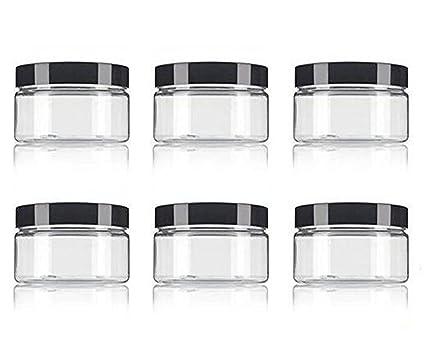 Tarro de plástico de polietileno transparente (sin BPA), rellenable de bajo perfil,