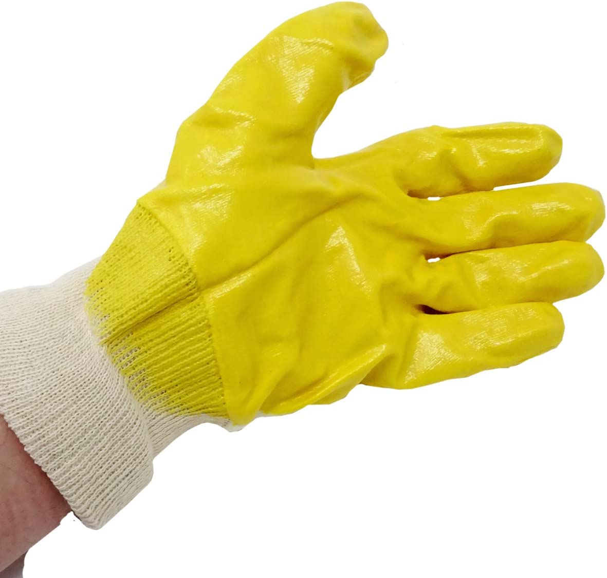 SBS/® Guantes de nitrilo Talla 7/Amarillo con pu/ño de 12/Pares de