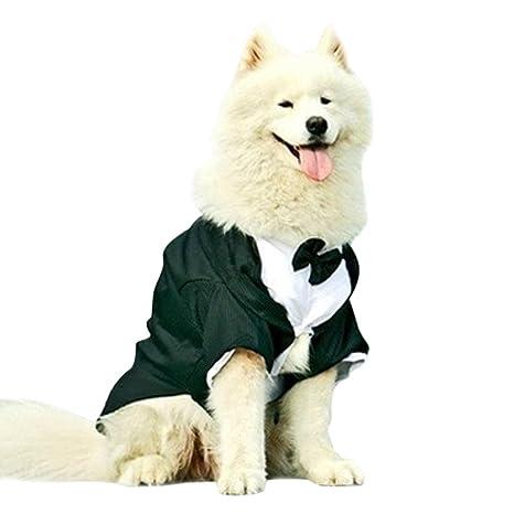 Legendog Ropa de Perros, Traje Formal de Perro, Trago de Perro, Ropa de Cola con Pajarita de Perro Grande 4XL