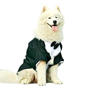 Legendog Ropa de Perros, Traje Formal de Perro, Trago de Perro, Ropa de Cola con Pajarita de Perro Grande 3XL