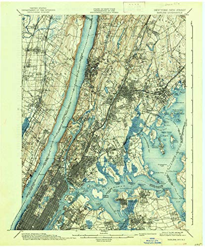 YellowMaps Harlem NY topo map, 1:62500 Scale, 15 X 15 Minute, Historical, 1900, Updated 1938, 20.1 x 16.6 in - Tyvek
