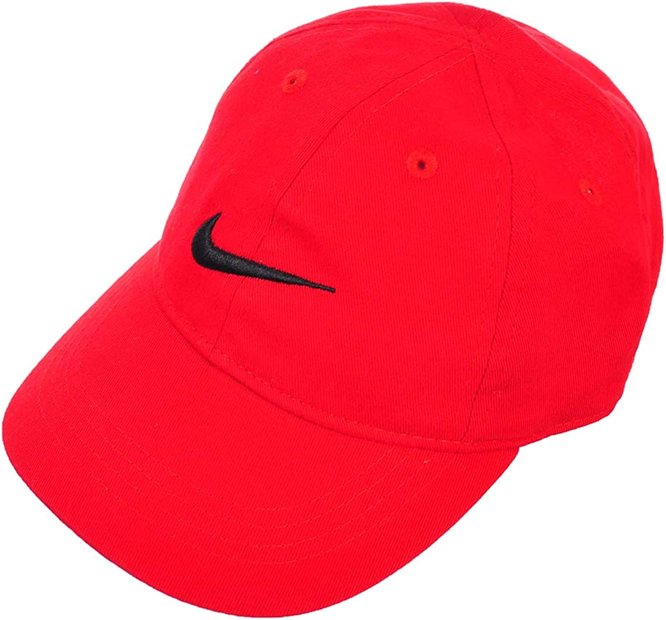 NIKE Little Boy's Swoosh Just Do It Cap, 2/4T, Gym Red (6A2319-R78) / Black/ Gym Red