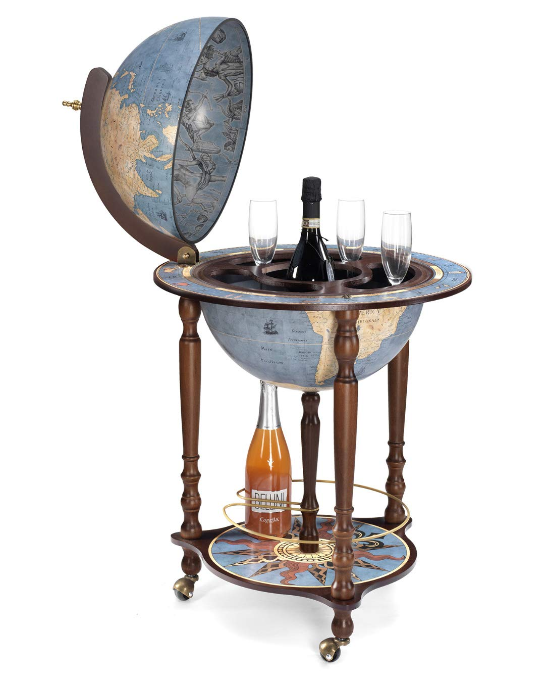 Awesome Da Vinci Blue Dust Made In Italy Bar Globe With Certificate Of Authenticity Home Interior And Landscaping Eliaenasavecom