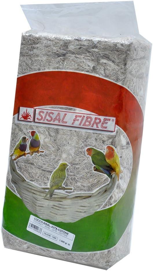Sisal de Fondo Jaula de pájaros Coco/Sisal/Yute/algodón Mezcla 1kg