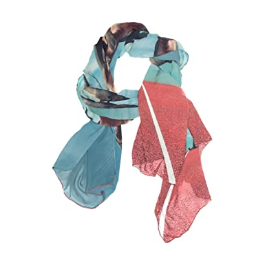 62f4e5620b6 Image Unavailable. Image not available for. Color  MOFEIYUE Funny Running  Dinosaur Women Scarf Long Soft Chiffon Neck Scarves Wrap Shawl for Ladies  Girls