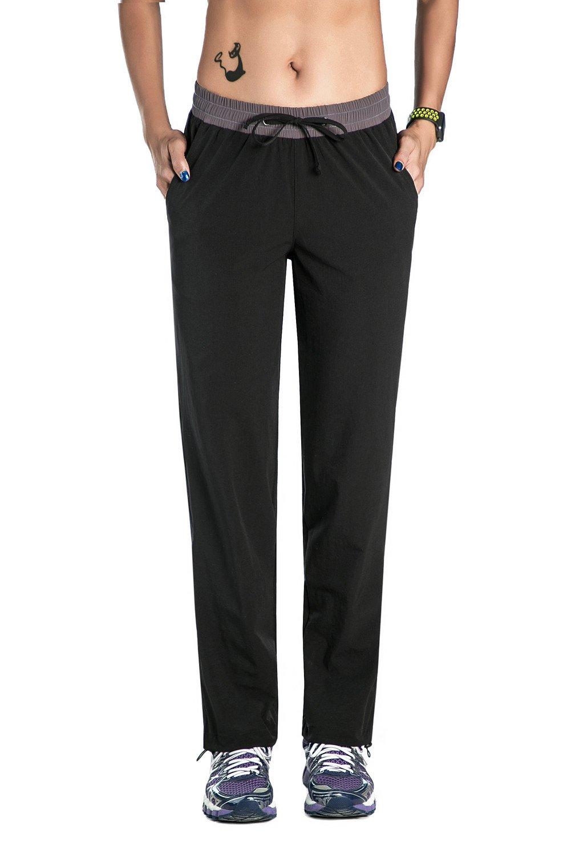 Nonwe Women's Outdoor Quick Dry Jogger Pants Black L/32 Inseam