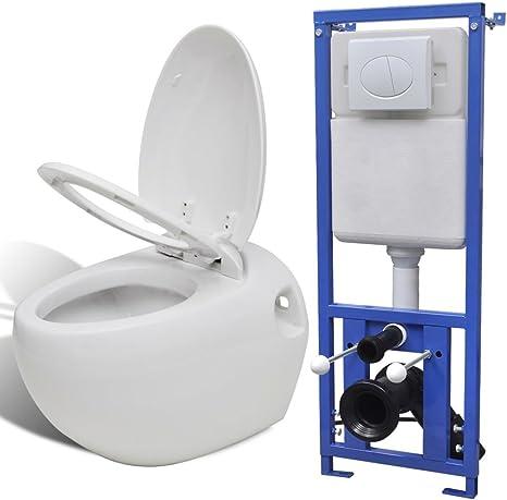 xinglieu inodoro de pared diseño de huevo con cisterna oculta blanco inodoro bidé bidé baño Kit Toilette: Amazon.es: Bricolaje y herramientas