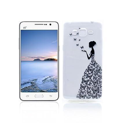 Funda Samsung Galaxy Grand Prime G530 Carcasa Protectora OuDu Funda para Samsung Galaxy Grand Prime G530 Caso Silicona TPU Funda Suave Soft Silicone ...