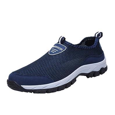 Logobeing Running Botas Zapatos de Malla Al Aire Libre para Hombre Senderismo Calzado Informal para Correr Alpinismo Zapatillas Casual En Cómodos: ...
