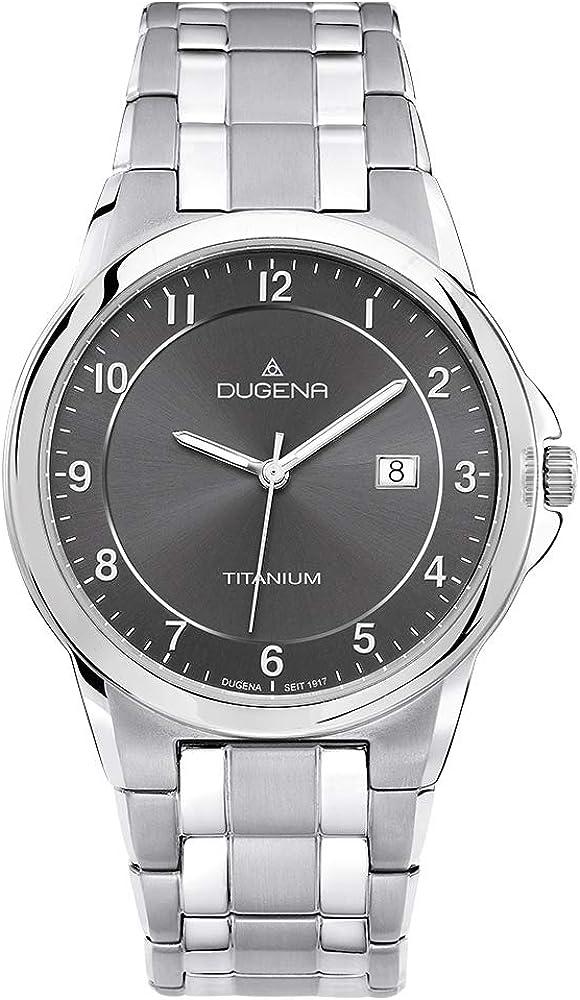 Dugena Dugena Basic 4460513 - Reloj analógico de Cuarzo para Hombre, Correa de Titanio Multicolor
